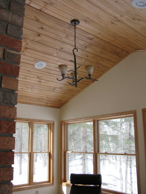 Downstairs Sunroom Vaulted Ceiling